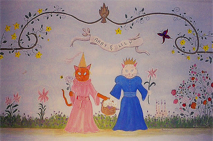 "Lilly & Abby""s Wall Mural"